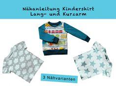 Mit diesem eBook kannst Du ein tolles Kinder- / Baby-Shirt in den Größen 56 bis 98 nähen. Wahlweise mit langen oder kurzen Ärmeln. Insgesamt kannst Du zwischen 3 Nähvarianten wählen.  Die...