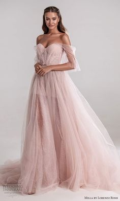 Ball Gowns Prom, Ball Dresses, Pink Ball Gowns, Elegant Dresses, Pretty Dresses, Pink Dresses, Blush Pink Wedding Dress, Gown Wedding, Fashion Wedding Dress