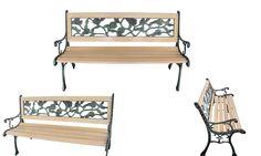 Groupon Goods Global GmbH: Panchina da giardino con schienale incrociato disponibile in 2 modelli