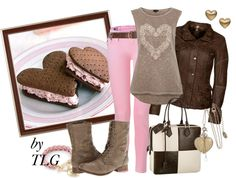 """Ice Cream Sandwich"" by tiffany-palmer-godfrey ❤ liked on Polyvore"
