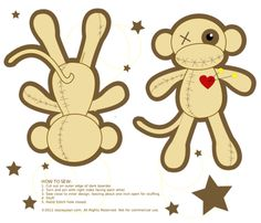 Voodoo Fabric Monkey Doll fabric by staceyjean on Spoonflower - custom fabric