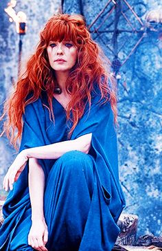 Kelly Reilly as Kerra in Britannia, the 9-part series will premiere in 2018 on Sky1 in the UK and Amazon Prime Video in the US [x]