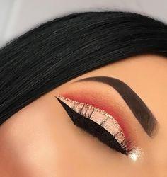 Makeup Light Skin Dark Hair Eyebrows 44 New Ideas - Prom Makeup Navy Makeup Eye Looks, Red Makeup, Eye Makeup Art, Glitter Makeup, Cute Makeup, Glam Makeup, Gorgeous Makeup, Pretty Makeup, Skin Makeup