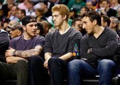 Tyler Seguin, Dougie Hamilton, and Brad Marchand