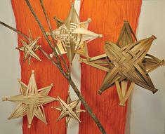 Stjerner af flade rattan sjener