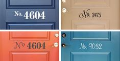 I like this idea, even though I don't want it on my door right now.  House Number Vinyl Door Decals