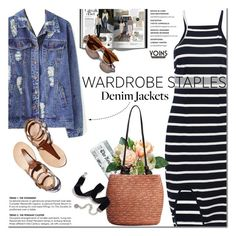 """""""Denim jacket - Yoins wardrobe staples"""" by purpleagony ❤ liked on Polyvore featuring Sweet Romance, Garance Doré, denimjackets, WardrobeStaples, yoins, yoinscollection and loveyoins"""