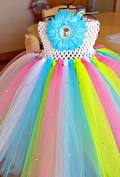 Custom tutu dresses you chose colors ( you can even add Rhinestones to the skirt to make it sparkle)
