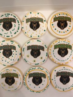 Baylor Bears Graduation Party - See more of our cookies at http://www.ctcookietreats.com