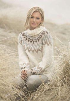 Kathrine genseren fra Farmen Viking 1806-1 Knit Crochet, Crochet Pattern, Drops Design, Garter Stitch, Knit Fashion, Knitting Projects, Vikings, Knitwear, Knitting Patterns