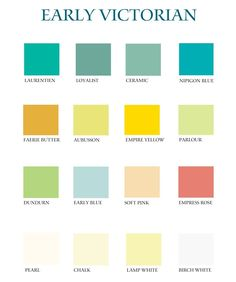 Victorian Color Palette | share