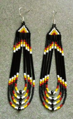 Native American Beaded Earrings by prettyuniquedesigns2 on Etsy