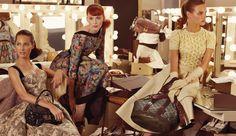Louis Vuitton FW 2010 by Steven Meisel Models:Natalia Vodianova, Karen Elson & Christy Turlington