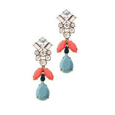 J.Crew crystal sky earrings.