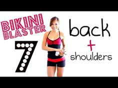 Bikini Blaster 7: Bodacious Back + Sleek Shoulders. I started watching this girl on youtube a year or more ago (I searched Piilates on youtube and her blogilates came up). I love her work outs and my legs always hated her the next day;) All her workouts are on her blog categorized by body part! She is great:)