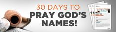 Tony Evans. Email sign up to receive 30 daily prayers and meanings of God's names.