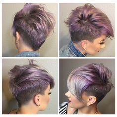 Pastel pixie by @katiezimbalisalon #hairaddiction #purplepixie #beauty