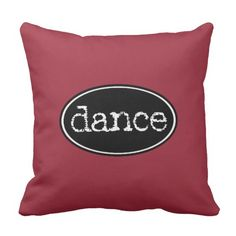 Black and White Dance Oval Throw Pillow