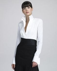 Donna Karan, the classic white shirt.