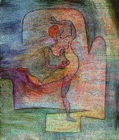 "Paul Klee 'Tanzerin' ('Dancer') 1932 Oil on canvas 26"" x 22"""