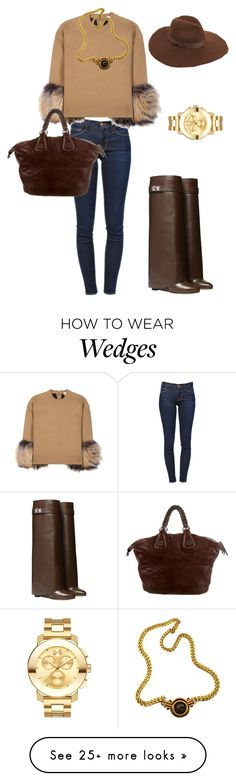 """Untitled #171"" by sissifiore on Polyvore featuring Frame Denim, Michael Kors, Givenchy, Movado, Bulgari and Lack of Color"