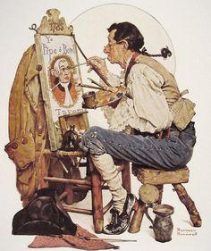 est100 一些攝影(some photos): Norman Rockwell, illustrator. 諾曼·洛克威爾, 插畫家