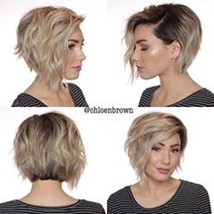 🖤 New 360 🖤 ✂️ I'll be posting a straight hair 360 in a couple of days Medium Short Hair, Short Hair With Layers, Short Curly Hair, Curly Hair Styles, Fancy Hairstyles, Short Hairstyles For Women, Straight Hairstyles, Wedding Hairstyles, Short Hair Undercut