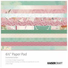 "Enchanted Garden Paper Pad 6.5""X6.5""-  8.99"