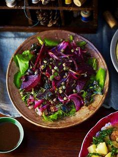 Roasted Beetroot Salad | Vegetables Recipes | Jamie Oliver  #HealthyDinner [ http://GroovyBeets.com #beetrootsalad
