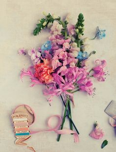 Melt my heart! ribbon, beautiful pastel, but bright colors, layout and details | bywstudent
