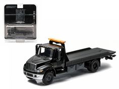 2014 International Durastar 4400 Flatbed Tow Truck Black Bandit 1/64 Greenlight #Greenlight #International