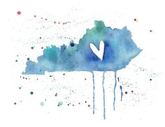 Already purchased for my someday space and in love!     5x7 - Kentucky Love. $10.00, via Etsy.