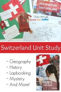 Switzerland Unit Study from Starts At Eight. Destination Switzerland from CASE OF ADVENTURE - An extensive unit study on Switzerland that includes history, geography, reading, lapbooking and so much more! Geography Lessons, Teaching Geography, Geography For Kids, World Geography, Teaching History, Teaching Kids, Homeschool High School, Homeschool Curriculum Reviews, Study History