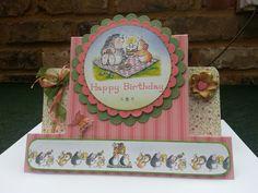 Handmade birthday card for someone who likes hedgehogs :)