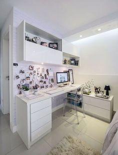 Trendy Home Office Design Zen Ideas Home Office Closet, Home Office Space, Home Office Desks, Office Furniture, Bedroom Desk, Room Ideas Bedroom, Closet Bedroom, Diy Bedroom, Small Room Organization