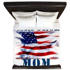 Airforce Mom King Duvet on CafePress.com