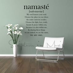 Namaste Definition Quote Vinyl Decal by ScriptumInMuris on Etsy, $45.00