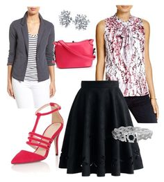 """""""Printed Bow-tie Blouse"""" by raya81084 on Polyvore featuring Status By Chenault, Caslon, Chicwish, Paper Dolls and Bling Jewelry"""
