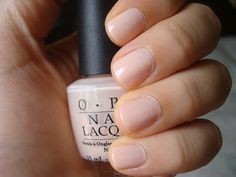 """The perfect milky pink nude color! """"OPI - Mimosas for Mr. & Mrs"""""""