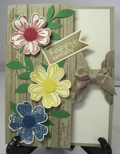 Hardwood Gate Card, Stampin' Up! Details are at www.sandystamper.com