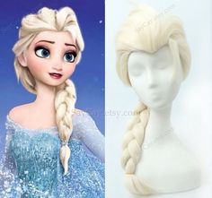 Disney frozen Elsa wig adult and child option  a7 by SayCay, $19.90