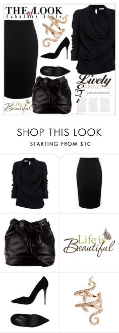 """""""Working Girl"""" by diamond-mara ❤ liked on Polyvore featuring Oscar de la Renta, Alexander McQueen, ZALORA, Brewster Home Fashions, Le Silla and Elise Dray"""