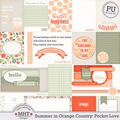 freebie, project life, pocket scrapping, summer in orange country, Misty Hilltops Designs, journal cards, journaling