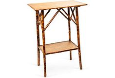 English Antique Bamboo Side Table