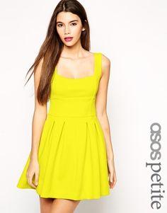 ASOS PETITE Debutante Mini Dress in Scuba