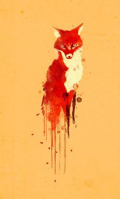 Poster | THE FOX, THE FOREST SPIR… von Budi Kwan