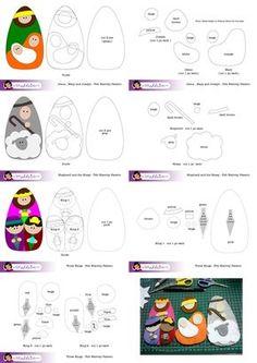 Felt Patterns | what madeleine loves: Felt Nativity Set Pattern Free Download