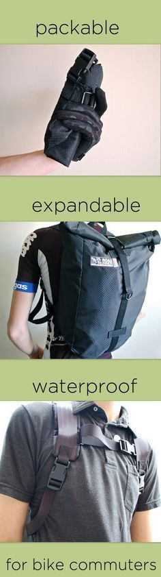 """[[start tab]] DESCR. Packable, Ultra-Light, and Waterproof. The Road Runner Bags """"Evil Mini"""" is the ultimate on-the-go bag. The roll top design is modern, functional, and spacious with a 22.75L interi"""