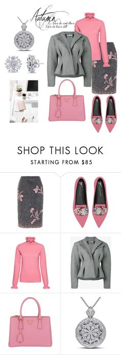 """""""Vintage Office Wear"""" by harmonyandlove ❤ liked on Polyvore featuring Prada, Giuseppe Zanotti, Shrimps, Jacquemus, Miadora, BERRICLE and vintage"""