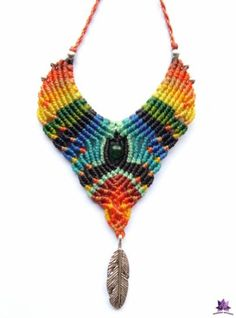 Macrame Colar, Macrame Necklace, Micro Macrame, Macrame Jewelry, Crochet Necklace, Crochet Crafts, Diy Crafts, Bracelet Tutorial, Huaraches
